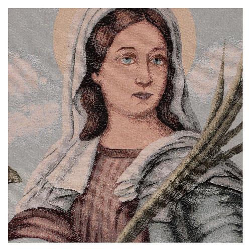Saint Lucy tapestry 55x40 cm 2