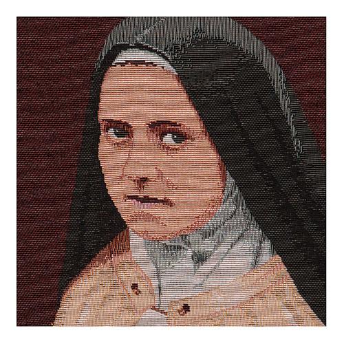 Arazzo Santa Teresa del Bambin Gesù 40x30 cm 2