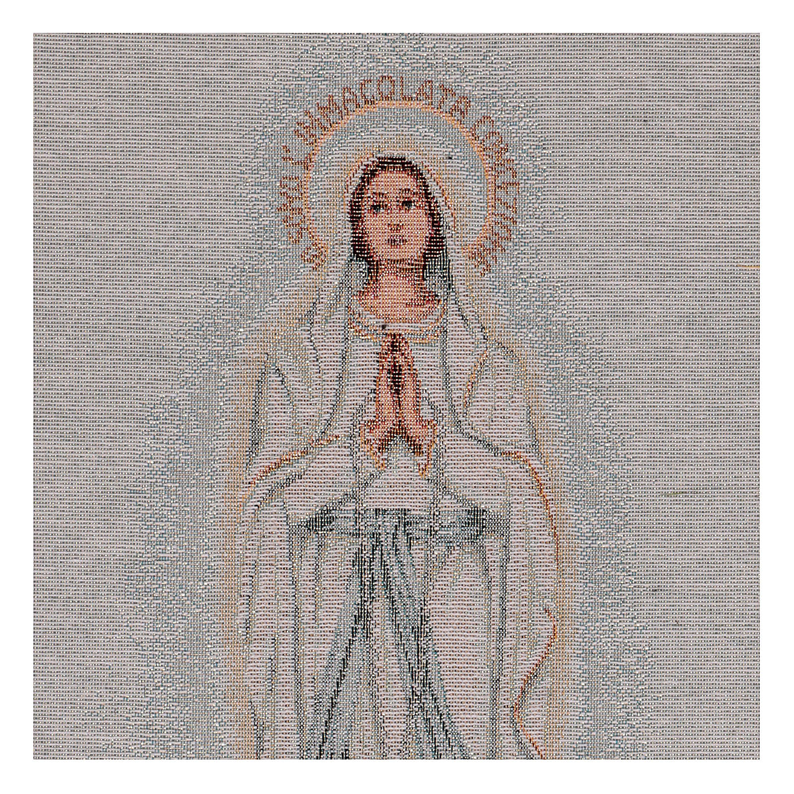Arazzo Madonna di Lourdes 45x30 cm 3