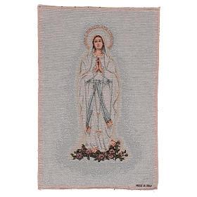 Arazzo Madonna di Lourdes 45x30 cm s1
