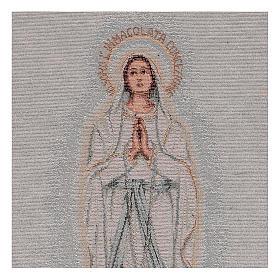 Arazzo Madonna di Lourdes 45x30 cm s2