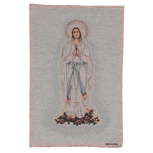 Arazzo Madonna di Lourdes 45x30 cm 1