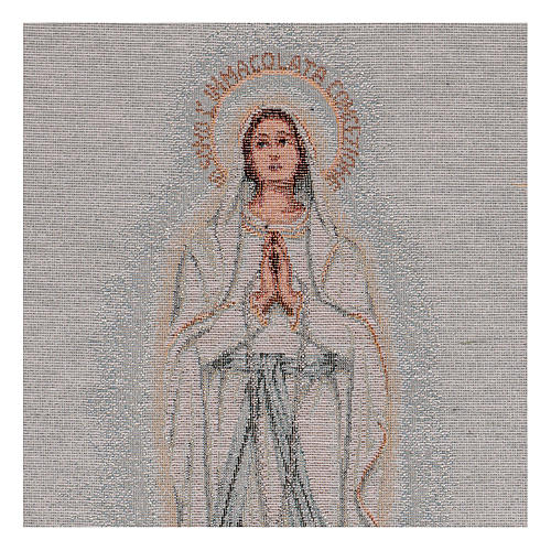 Arazzo Madonna di Lourdes 45x30 cm 2