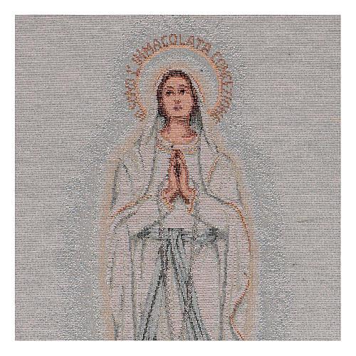 Gobelin Madonna z Lourdes 45x30 cm 2