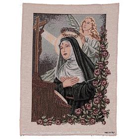 Arazzo Santa Rita in preghiera Angelo 50x40 cm s1