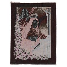 Arazzo Santa Rita in preghiera Angelo 50x40 cm s3