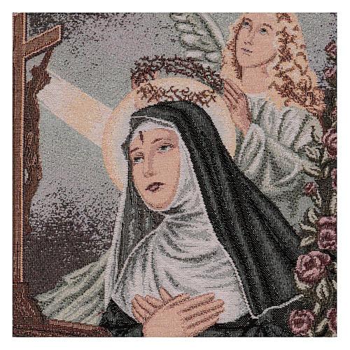 Arazzo Santa Rita in preghiera Angelo 50x40 cm 2