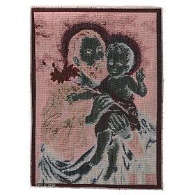 Wandteppich Heiliger Josef mit Lilie 40x30 cm s3