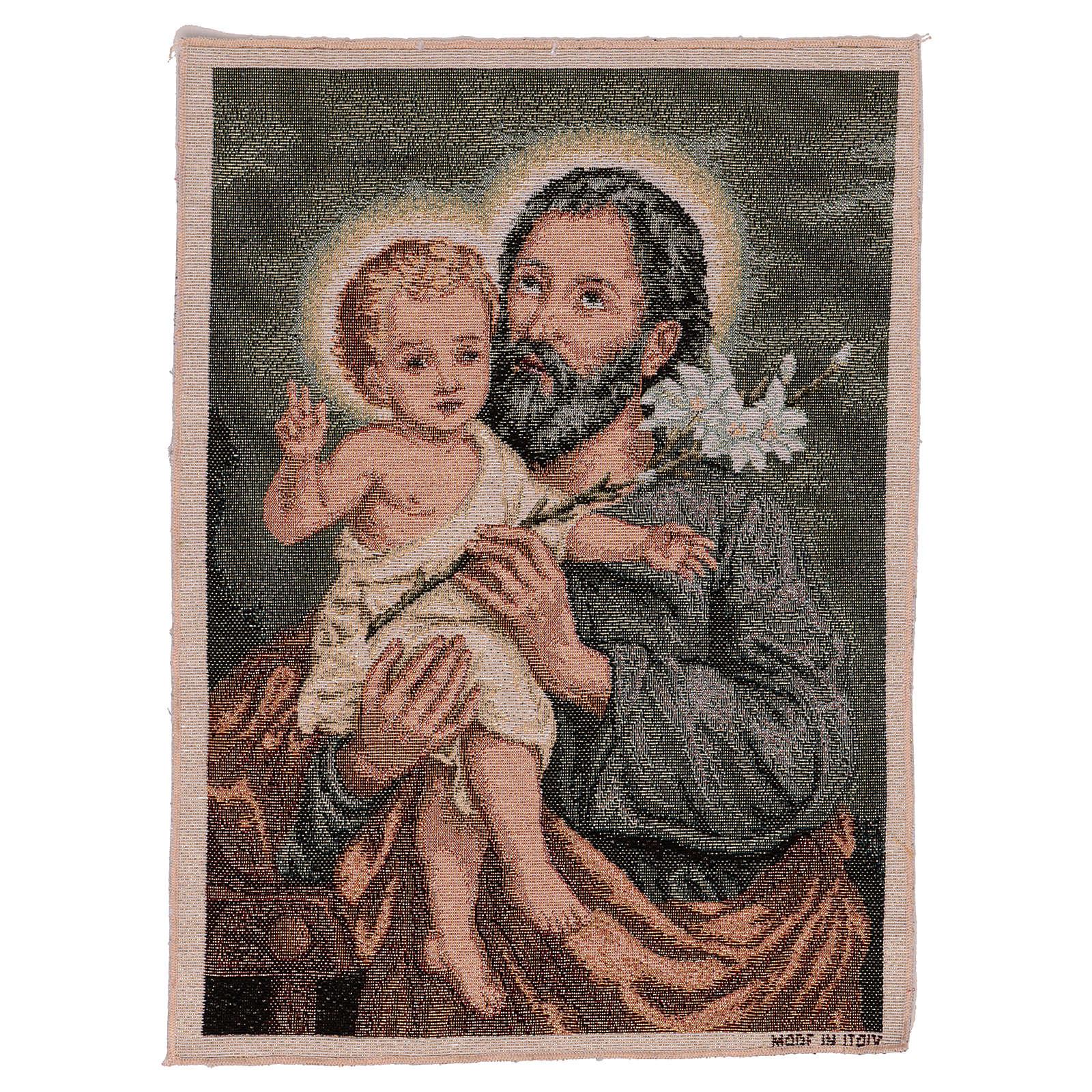 Arazzo San Giuseppe con Giglio 50x30 cm 3