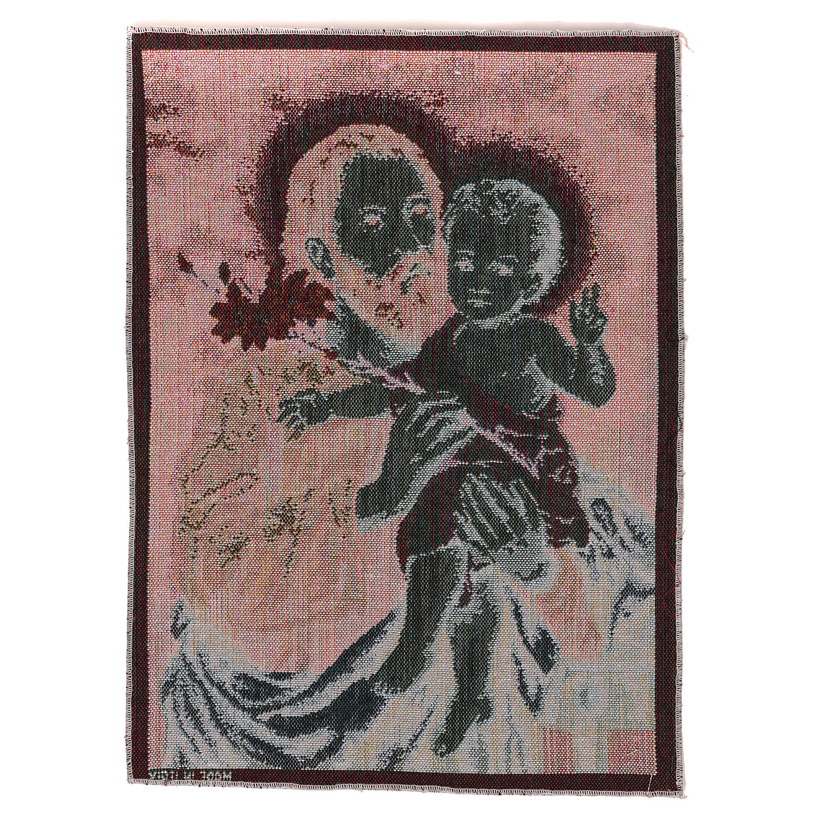 Gobelin Święty Józef z lilią 40x30 cm 3