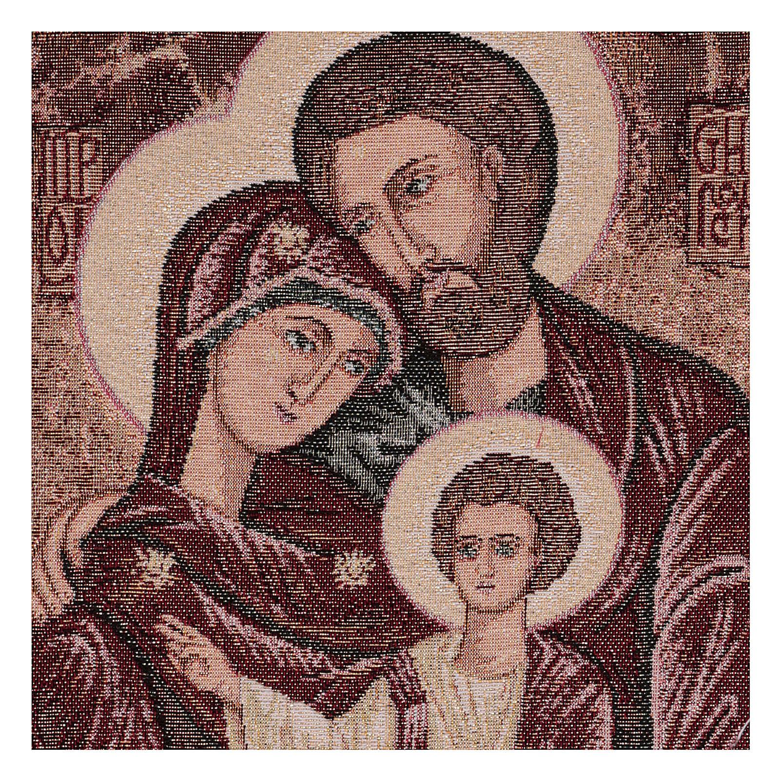 Arazzo Santa Famiglia Bizantina 40x30 cm 3