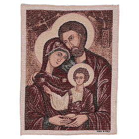 Arazzo Santa Famiglia Bizantina 40x30 cm s1