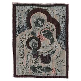 Byzantine Holy Family tapestry 16x12