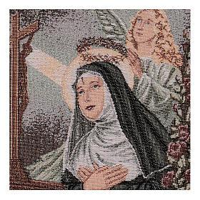 Arazzo Santa Rita in preghiera Angelo 40x30 cm s2