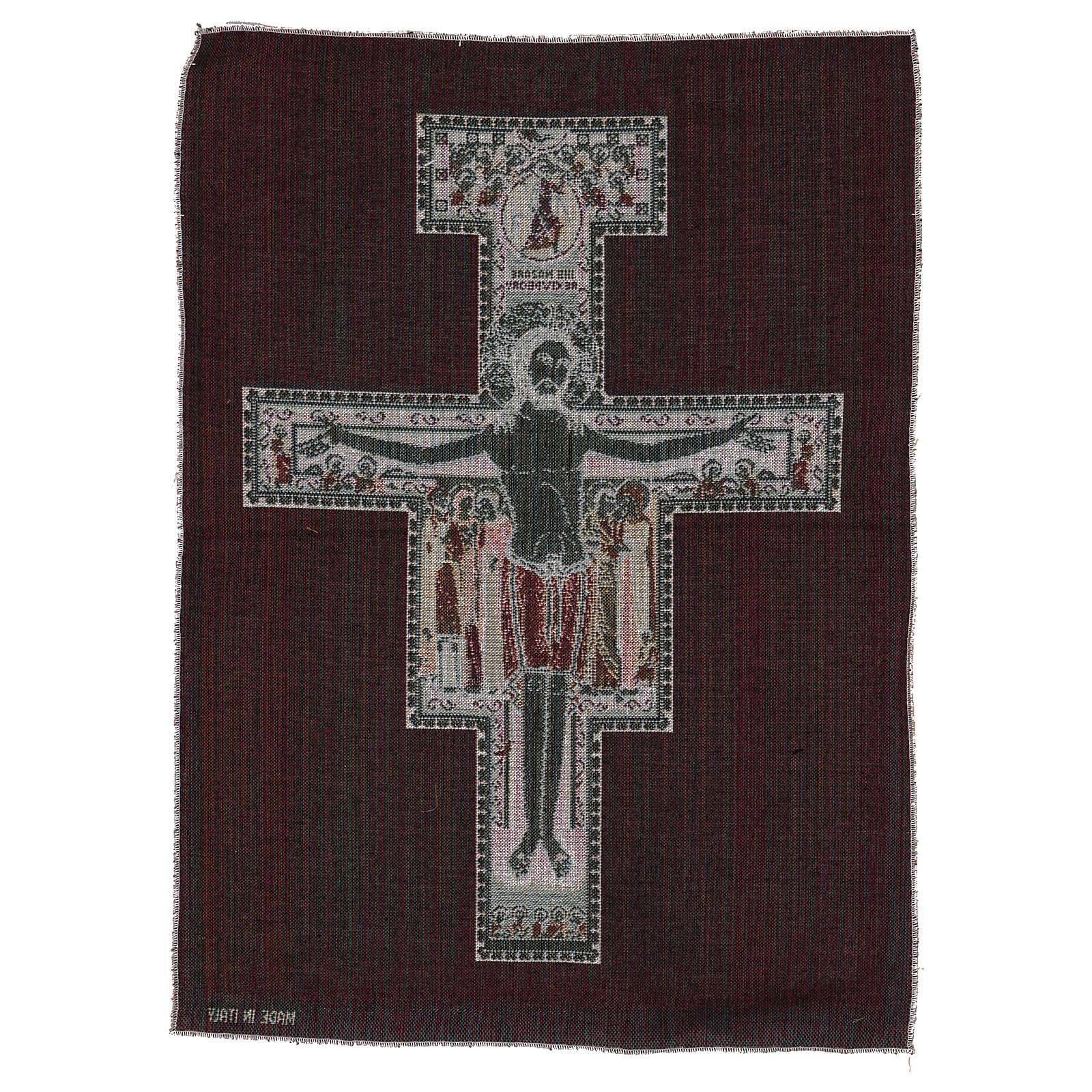 Arazzo Crocefisso di San Damiano 50x40 cm 3