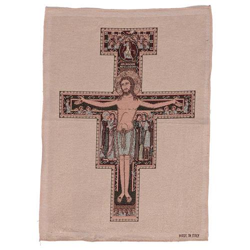 Arazzo Crocefisso di San Damiano 50x40 cm 1