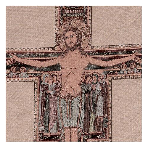 Arazzo Crocefisso di San Damiano 50x40 cm 2