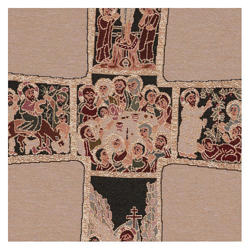 Arazzo Croce Russa 55x40 cm 2