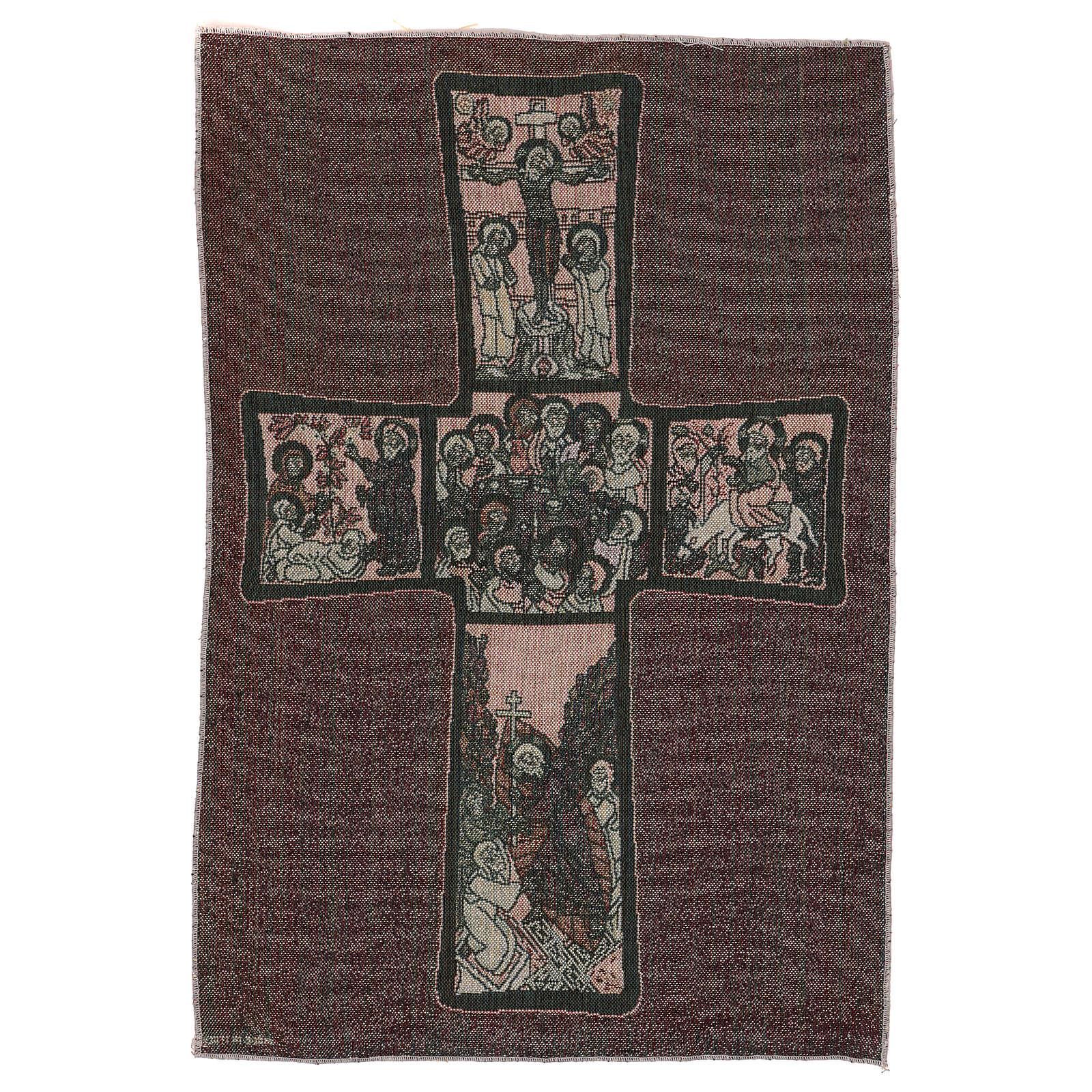 Life of Christ cross tapestry 22x15