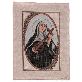 Arazzo Santa Rita con Croce e Corona di Spine 55x40 cm s1