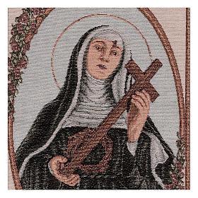 Arazzo Santa Rita con Croce e Corona di Spine 55x40 cm s2