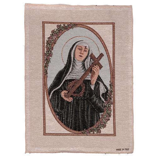 Arazzo Santa Rita con Croce e Corona di Spine 55x40 cm 1