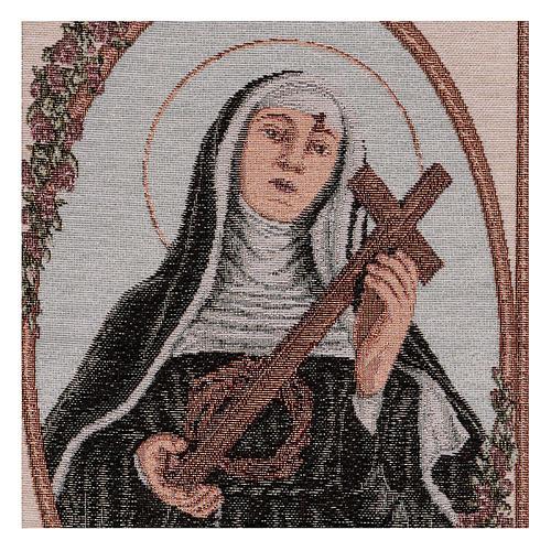 Arazzo Santa Rita con Croce e Corona di Spine 55x40 cm 2
