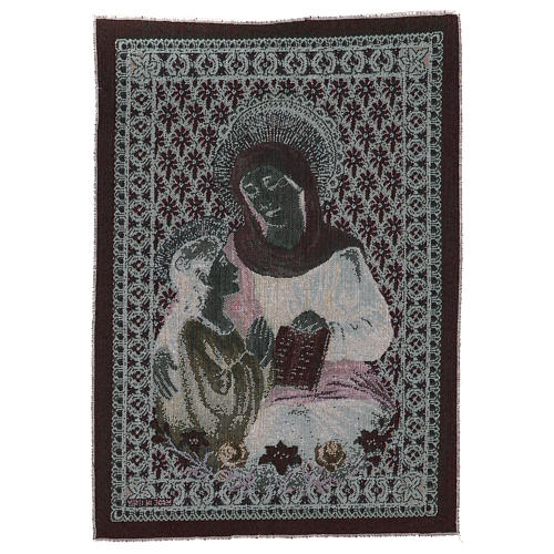 Saint Anne and Mary tapestry 21.5x15