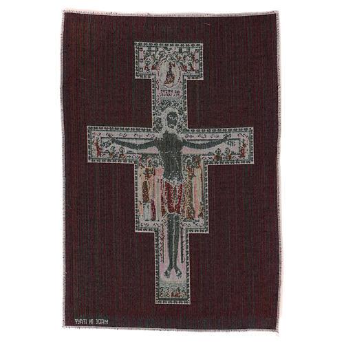 Arazzo Crocefisso di San Damiano 40x30 cm 3