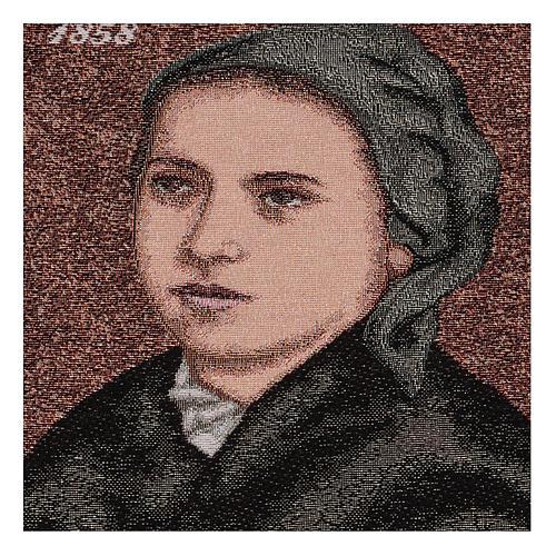 Wandteppich Bernadette Soubirous 35x30 cm 2