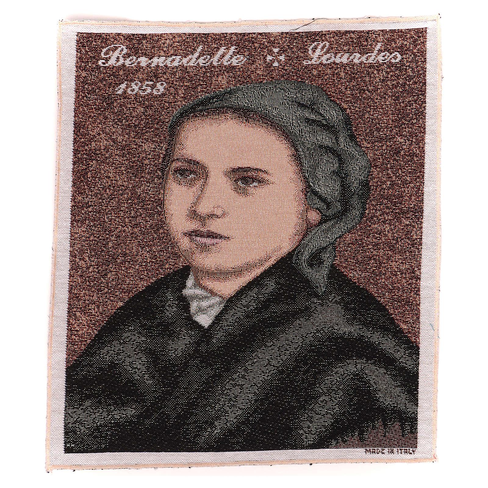 Arazzo Bernadette di Soubirous 35x30 cm 3