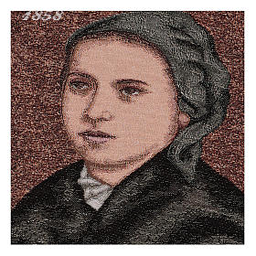 Arazzo Bernadette di Soubirous 35x30 cm s2