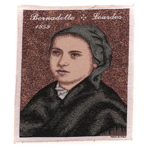 Arazzo Bernadette di Soubirous 35x30 cm 1