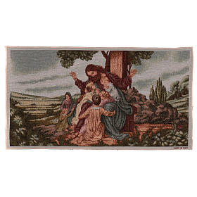 Tapestries: Jesus with children tapestry 35x60 cm