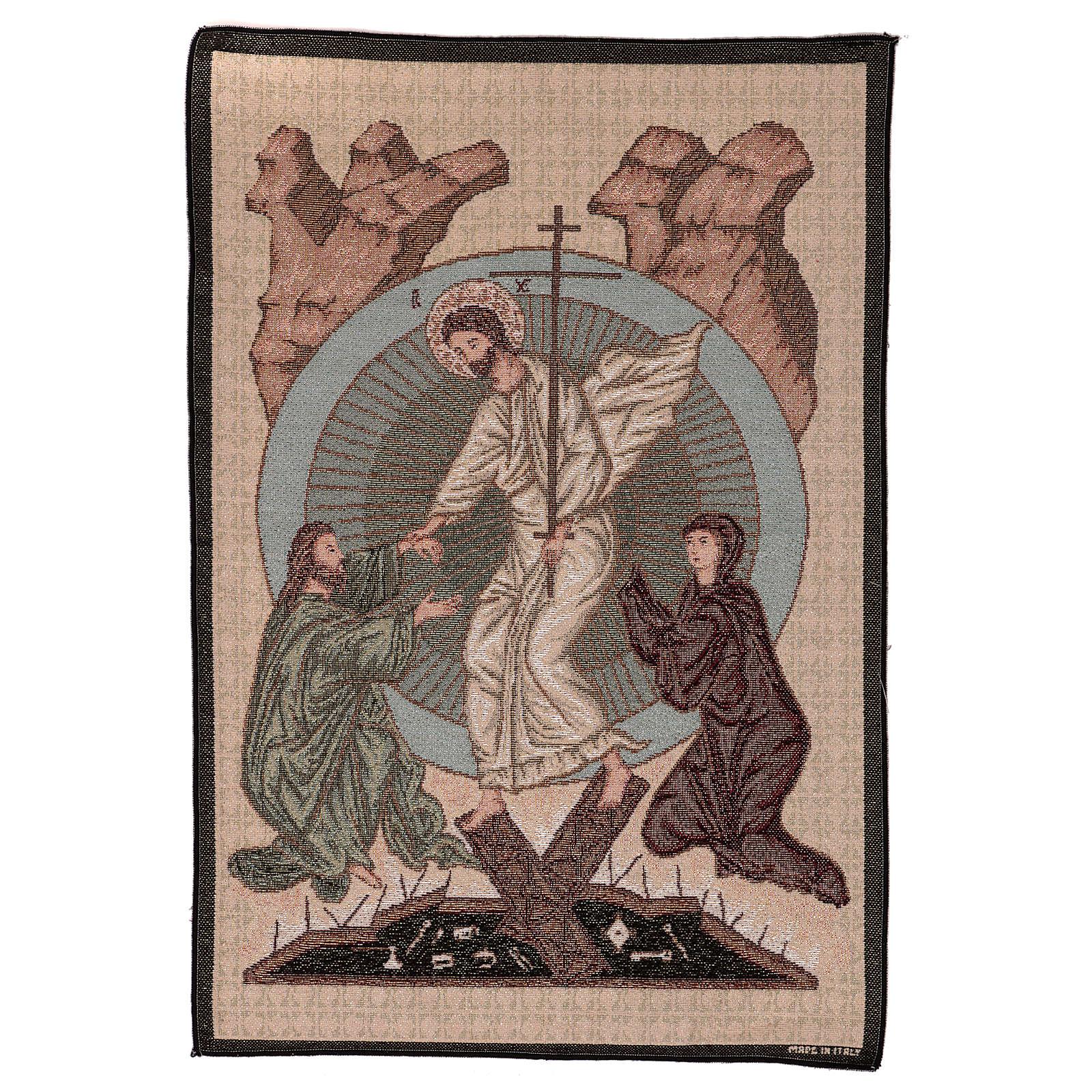 Wandteppich Auferstehung im byzantinischen Stil 55x40 cm 3
