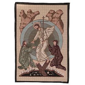 Wandteppich Auferstehung im byzantinischen Stil 55x40 cm s1