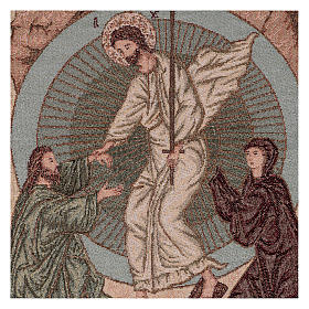 Wandteppich Auferstehung im byzantinischen Stil 55x40 cm s2