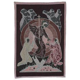 Wandteppich Auferstehung im byzantinischen Stil 55x40 cm s3