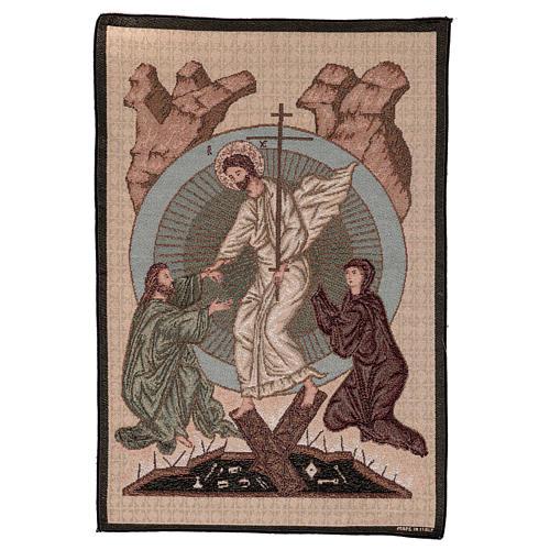 Wandteppich Auferstehung im byzantinischen Stil 55x40 cm 1