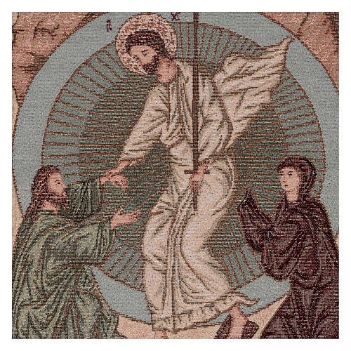 Wandteppich Auferstehung im byzantinischen Stil 55x40 cm 2