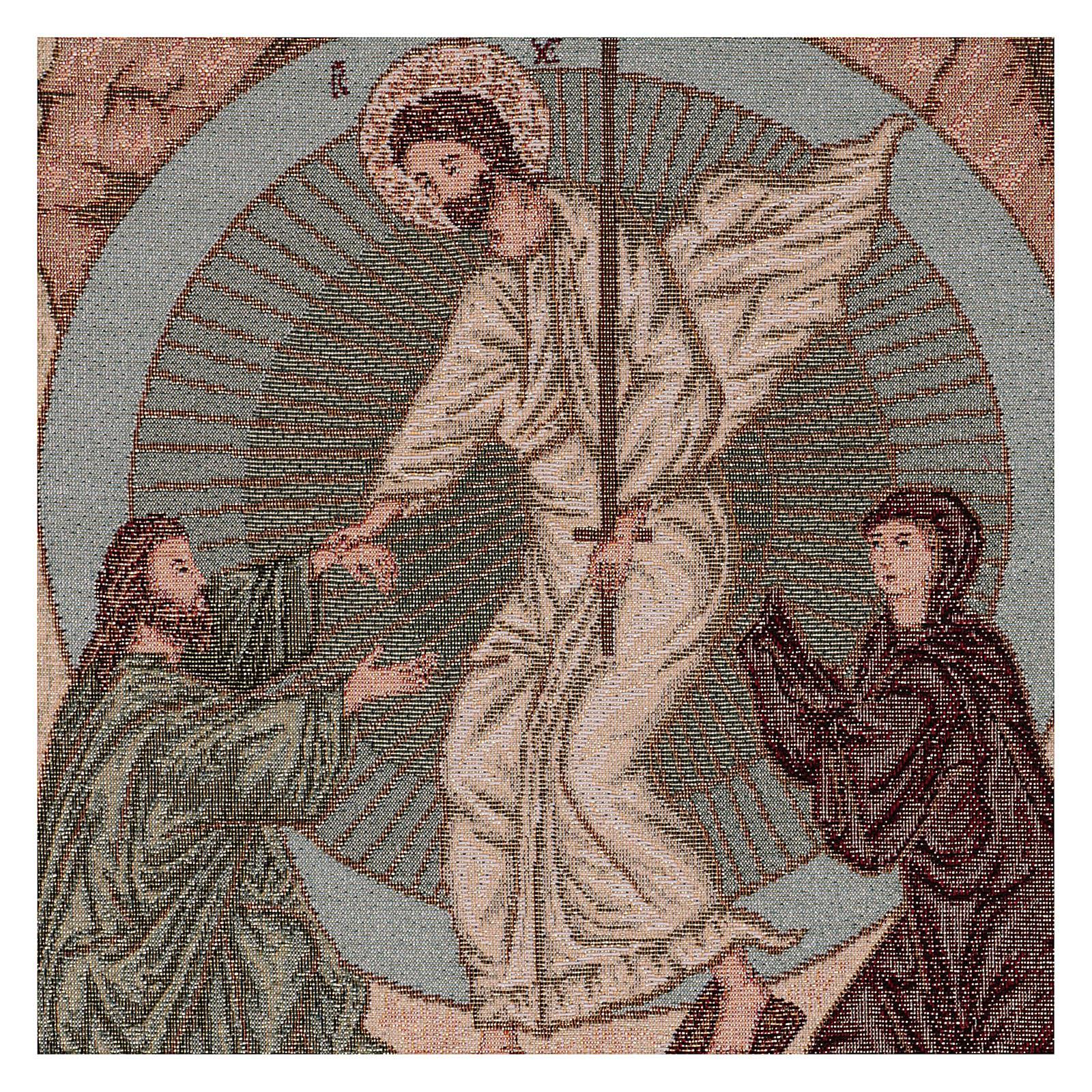 Arazzo Resurrezione Bizantina 55x40 cm 3