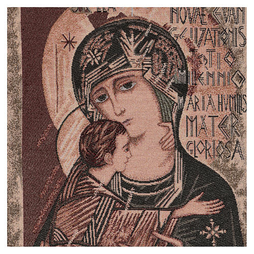 Arazzo Madonna del terzo millennio 55x40 cm 2