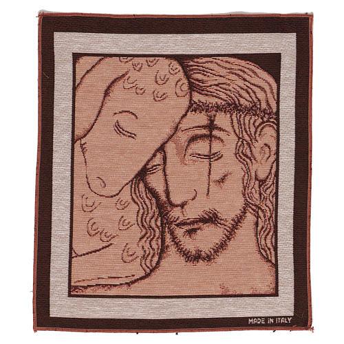Arazzo Buon Pastore di Kiko 35x30 cm 1