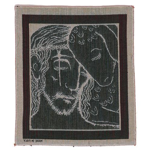 Arazzo Buon Pastore di Kiko 35x30 cm 3