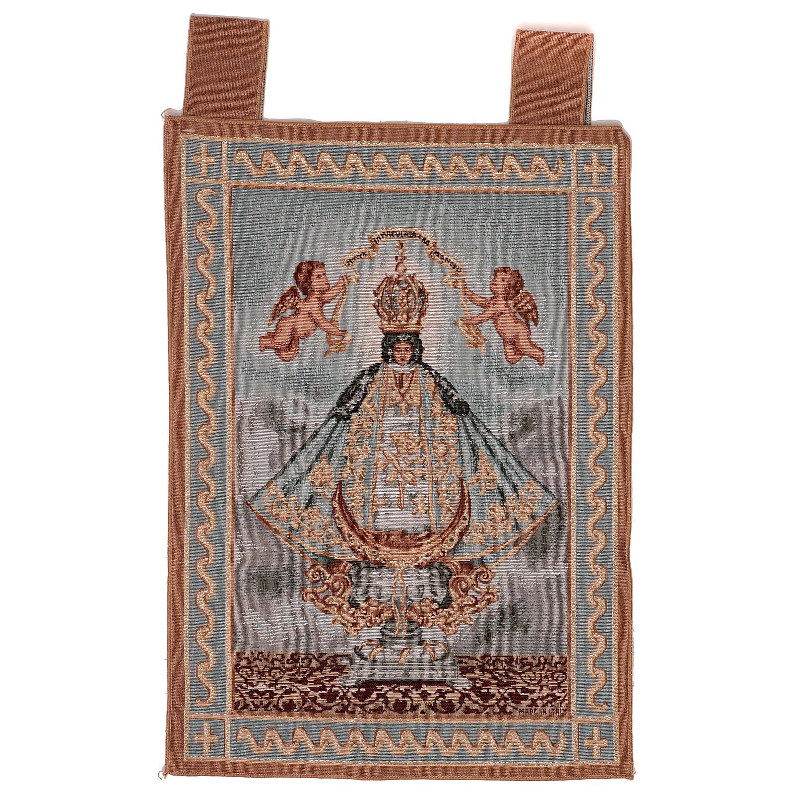 Arazzo Nuestra Señora de San Juan do Lagos cornice ganci 55x40 cm 3