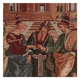 Arazzo Sposalizio della Vergine cornice ganci 55x40 cm s2
