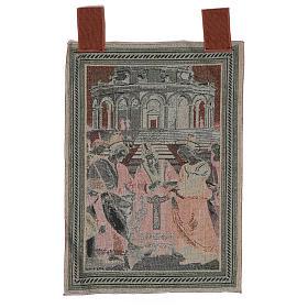 Arazzo Sposalizio della Vergine cornice ganci 55x40 cm s3