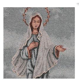 Arazzo Madonna di Medjugorje 45x30 cm s2