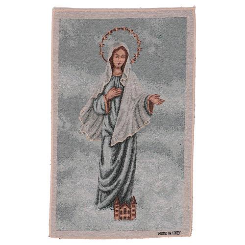 Arazzo Madonna di Medjugorje 45x30 cm 1