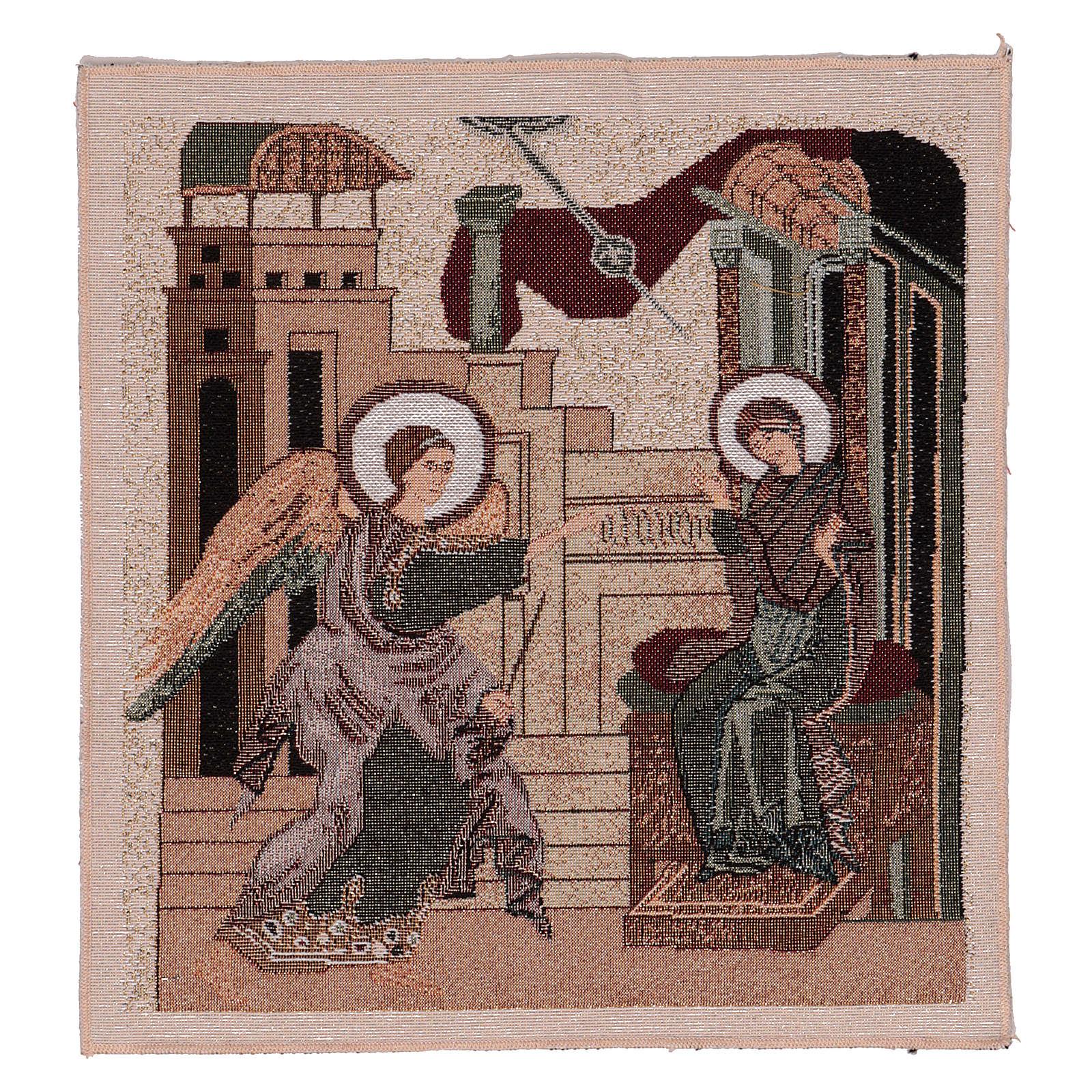 Arazzo Annunciazione Bizantina 30x30 cm 3